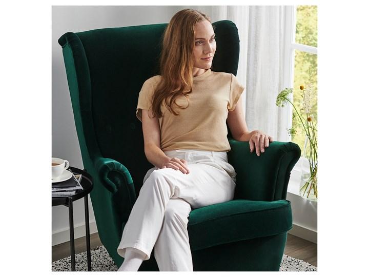 STRANDMON Fotel uszak Szerokość 82 cm Głębokość 96 cm Tkanina Wysokość 101 cm Głębokość 54 cm Tworzywo sztuczne Wysokość 45 cm Kategoria Fotele do salonu