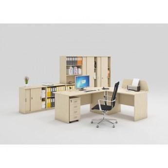 Zestaw mebli biurowych MIRELLI A+, typ B, brzoza