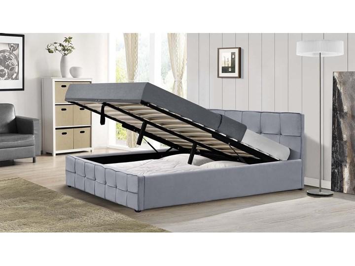 ŁÓŻKO TAPICEROWANE DO SYPIALNI 160X200 SFG004 WELUR POPIEL Kategoria Łóżka do sypialni