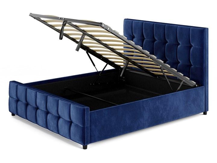 ŁÓŻKO TAPICEROWANE DO SYPIALNI 160X200 SFG015 WELUR #82 Kategoria Łóżka do sypialni Kolor Granatowy