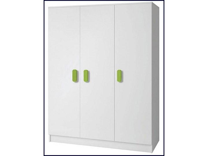 Nowoczesna szafa z kolorowymi uchwytami Florentino 12X - biała Drewno Płyta MDF Kolor Biały Kolor Wielokolorowy