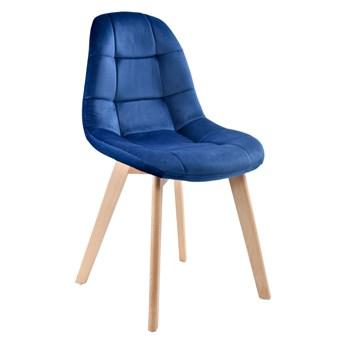 Krzesło tapicerowane AUSTIN VELVET aksamit granatowy