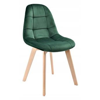 Krzesło tapicerowane AUSTIN VELVET aksamit zielony