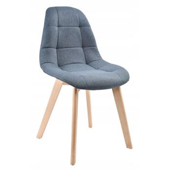 Krzesło tapicerowane AUSTIN ciemno szare