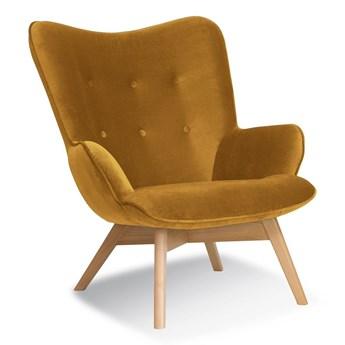 Fotel Uszak HR miodowy KR 01/ buk