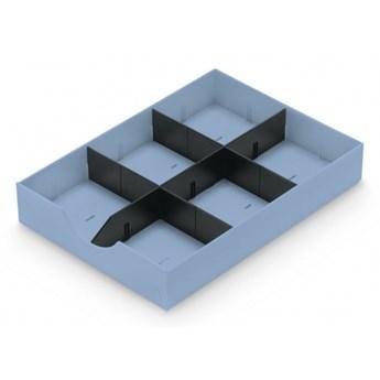 Przegródki do organizera biurowego, pastelowo niebieskie