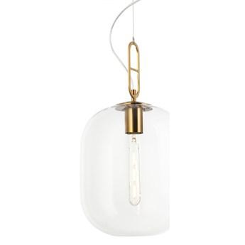 Lampa złota wisząca BIANCA przezroczysta modern