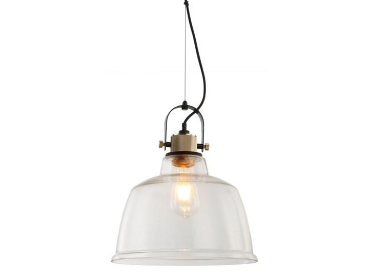 Lampa vintage CLOE czarno złota przezroczysty klosz MD8021AL-CL Szkło Metal Lampa z abażurem Lampa z kloszem Kolor Srebrny