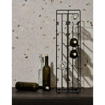 stojak na wino 9 butelek stalowy czarny 38cm seria PILARE BLOMUS