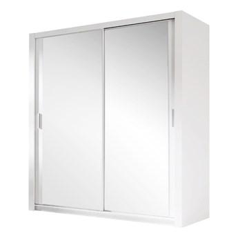 SELSEY Szafa Ordu przesuwna biała z lustrem 150 cm