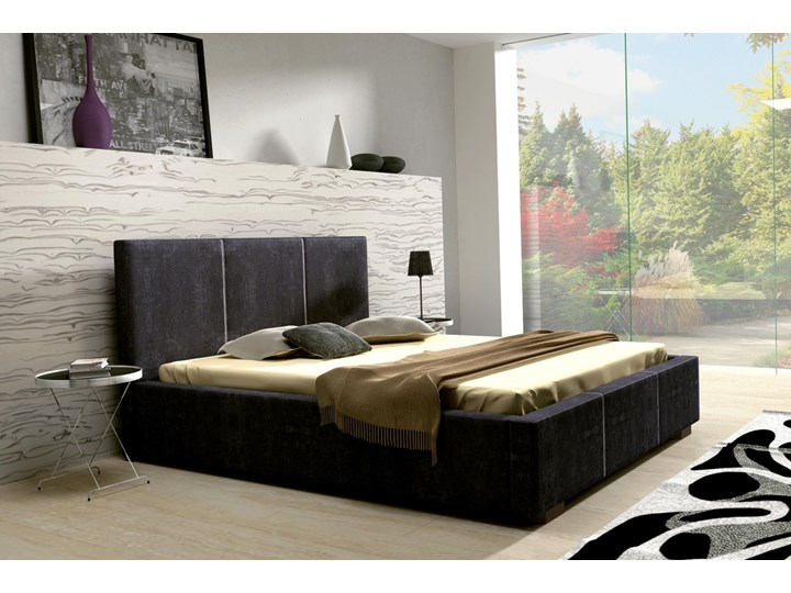 SELSEY Łóżko tapicerowane Mediolan Tkanina Metal Rozmiar materaca 140x200 cm