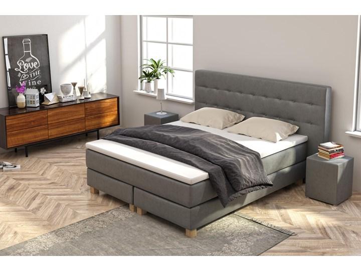 SELSEY Łóżko kontynentalne Gent ze stolikami nocnymi Rozmiar materaca 200x200 cm Kategoria Łóżka do sypialni