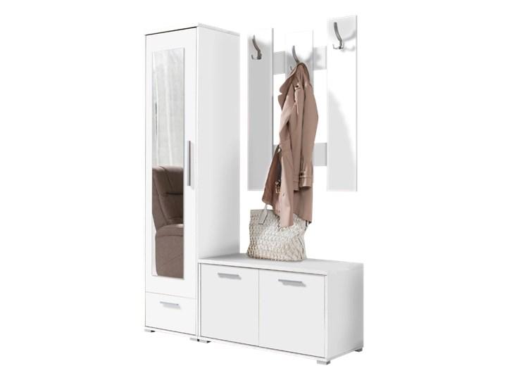 SELSEY Zestaw do przedpokoju Hawes Kategoria Zestawy mebli do sypialni Kolor Biały