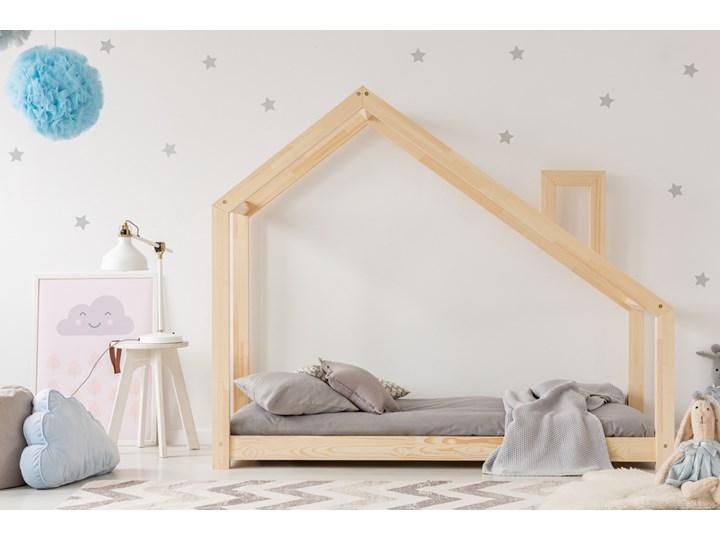 SELSEY Łóżko Dalidda domek z kominem Drewno Domki Rozmiar materaca 160x200 cm Rozmiar materaca 70x140 cm