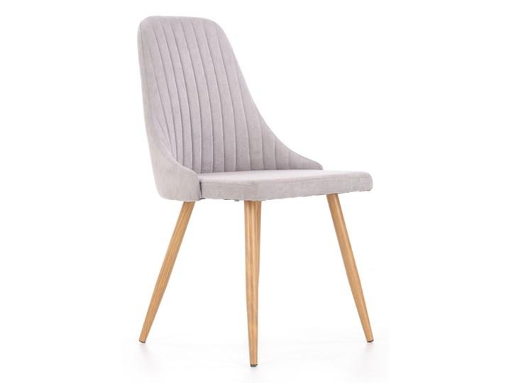 SELSEY Krzesło tapicerowane Muela jasnopopielate Krzesło inspirowane Pomieszczenie Jadalnia Drewno Metal Tkanina Stal Kategoria Krzesła kuchenne