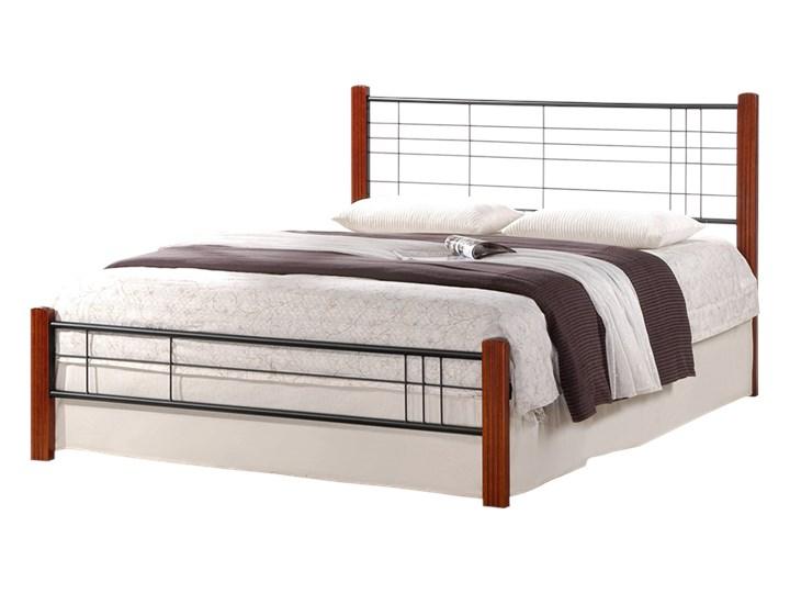 SELSEY Łóżko metalowe Meluco 160x200 cm Kategoria Łóżka do sypialni Drewno Kolor Brązowy