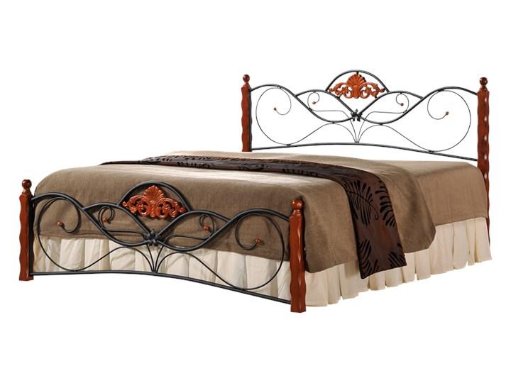 SELSEY Łóżko metalowe Pampeluna Drewno Kategoria Łóżka do sypialni