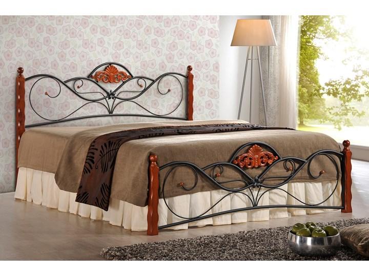 SELSEY Łóżko metalowe Pampeluna Drewno Rozmiar materaca 160x200 cm Kategoria Łóżka do sypialni