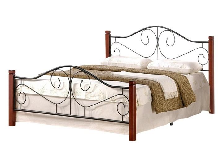 SELSEY Łóżko metalowe Santander 120x200 cm Drewno Kategoria Łóżka do sypialni