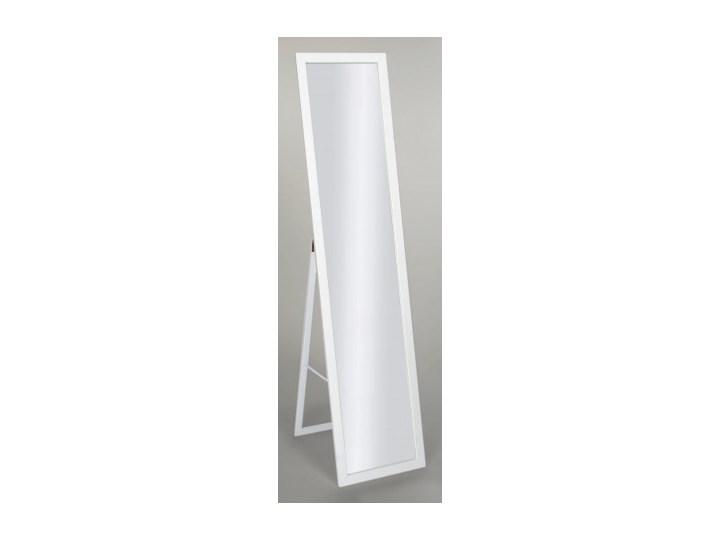 Lustro stojące do garderoby skandynawskie 155x35,8 w białej ramie BD art