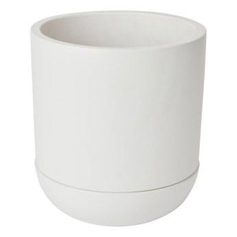 Doniczka z podstawką GoodHome 17 cm biała