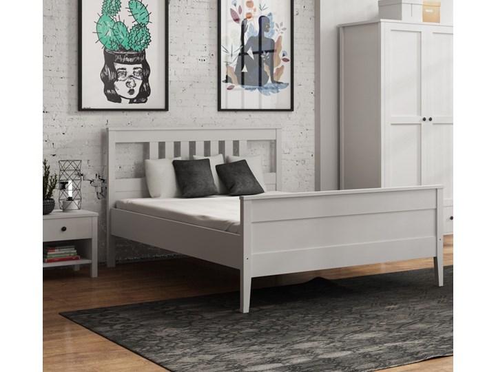 Łóżko do sypialni w stylu prowansalskim Porto Pojemnik na pościel Bez pojemnika