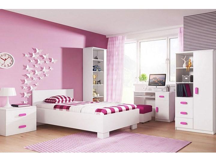 Pojedyncze łóżko jednoosobowe bez pojemnika Florentino 15X - białe Łóżko drewniane Kolor Biały Kategoria Łóżka do sypialni