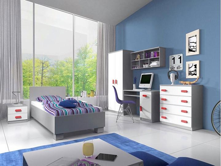 Pojedyncze łóżko jednoosobowe bez pojemnika Florentino 15X - białe Kolor Biały Łóżko drewniane Kategoria Łóżka do sypialni
