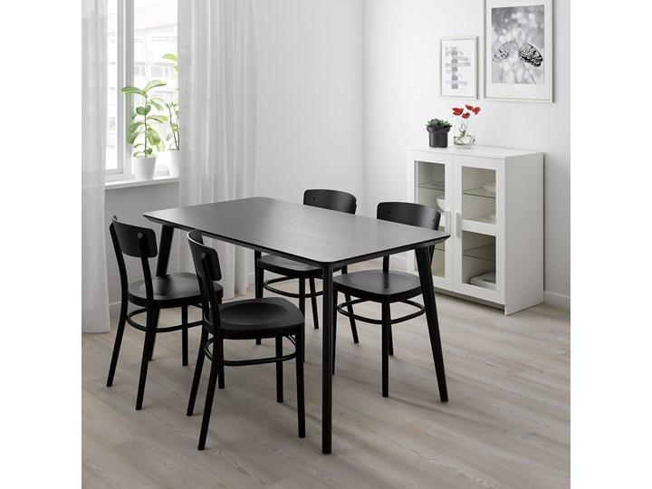 LISABO / IDOLF Stół i 4 krzesła Kolor Czarny Kategoria Stoły z krzesłami