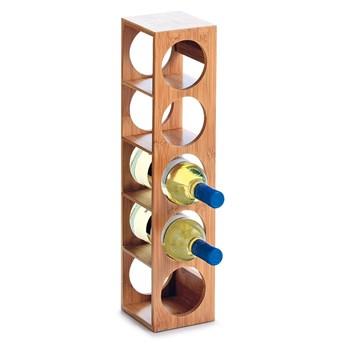 Bambusowy stojak na wino - 5 butelek