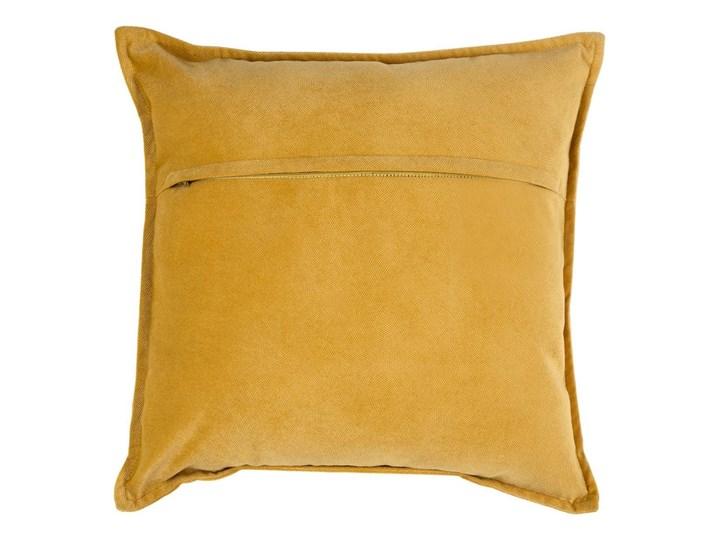 Poduszka dekoracyjna, ozdobna, 45 x 45 cm, kolor żółty