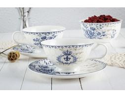 Komplet 2 filiżanek porcelanowych DUO SALZBURG -- biały niebieski