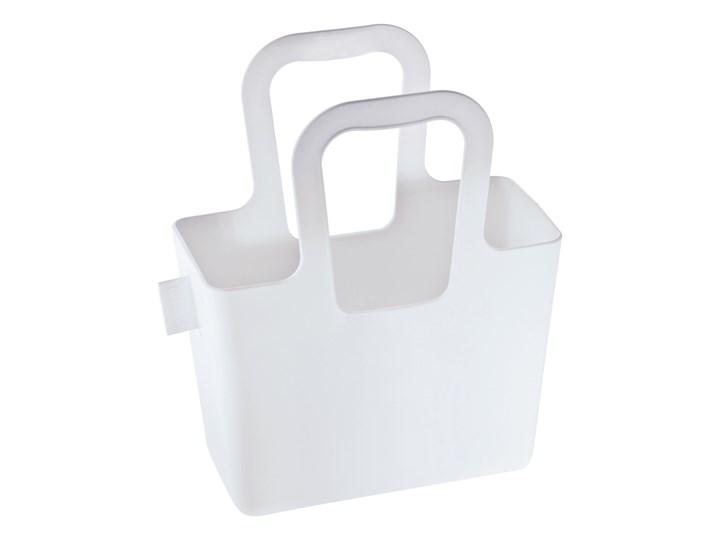 Torebka Taschelini, biała Tworzywo sztuczne Kolor Biały Kolor Szary