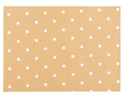Nakrycie na stół Kropka, beżowe, 33 x 45 cm