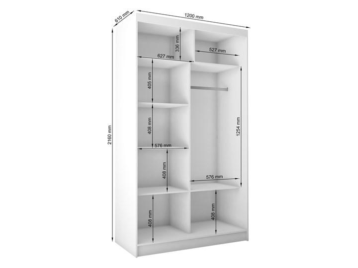 Szafa przesuwna Lea 2X- biała lacobel Rodzaj drzwi Przesuwne Drewno Lustro