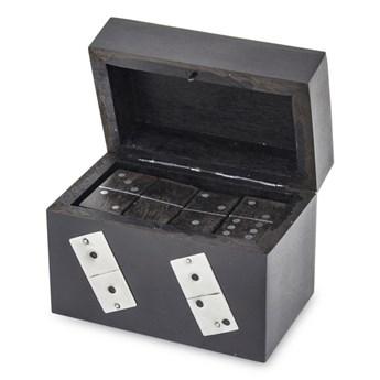 DOMINO gra w dekoracyjnym pudełku, 8x10x6 cm