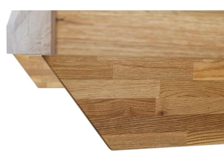 Łóżko dębowe FLOW  (180x200) Soolido Meble Łóżko drewniane Kolor Brązowy Kategoria Łóżka do sypialni
