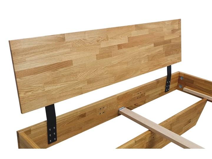 Łóżko dębowe FLOW Classic (160x200) Soolido Meble Kolor Brązowy Łóżko drewniane Rozmiar materaca 140x200 cm