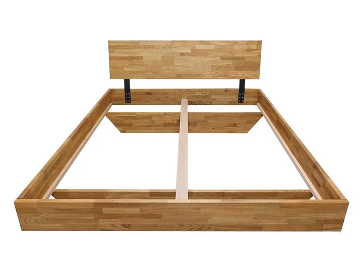 Łóżko dębowe FLOW Classic (180x200) Soolido Meble Kolor Brązowy Łóżko drewniane Rozmiar materaca 140x200 cm