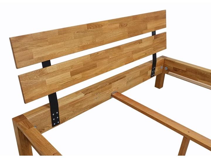 Łóżko dębowe FLOW Style (160x200) Soolido Meble Kolor Brązowy Łóżko drewniane Kategoria Łóżka do sypialni