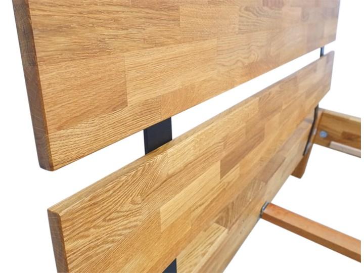 Łóżko dębowe FLOW Style (140x200) Soolido Meble Łóżko drewniane Kolor Brązowy Rozmiar materaca 140x200 cm