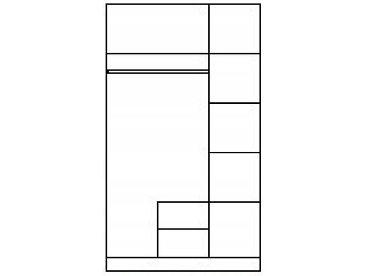 Szafa z lustrem Amira 3X - dąb sonoma Pomieszczenie Przedpokój Drewno Pomieszczenie Sypialnia