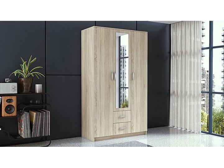 Szafa z lustrem Amira 3X - dąb sonoma Pomieszczenie Przedpokój Drewno Rodzaj drzwi Uchylne