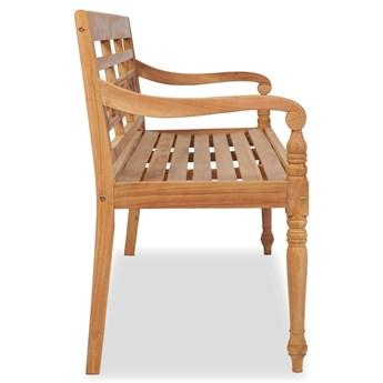 Drewniana ławka ogrodowa Rea 3X - brązowa