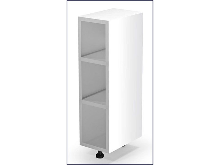 Kuchenna szafka dolna Limo 3X - biała Płyta MDF Kolor Biały