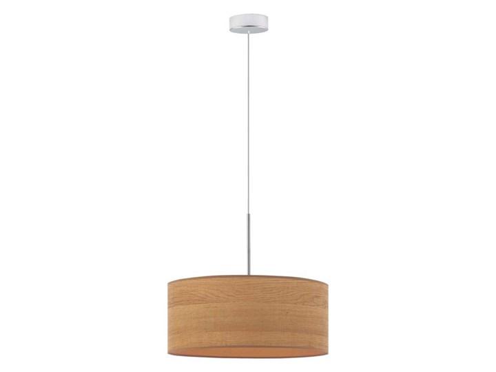 Żyrandol do pokoju SINTRA ECO fi - 40 cm - KOLOR DĄB SONOMA Lampa z abażurem Lampa LED Drewno Metal Kolor Brązowy