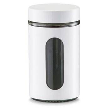 Pojemnik szklany ZELLER 0.9 L Biały