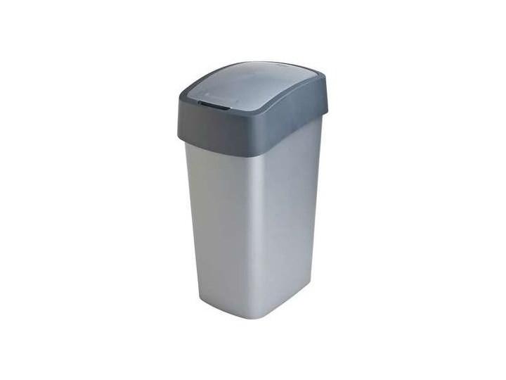 Kosz na śmieci CURVER Flip Bin 50L Srebrny