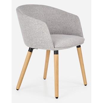 Tapicerowane krzesło na drewnianych nogach K266