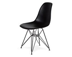Krzesło do nowoczesnych jadalni na czarnym stelażu DSR Black